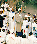 Disciples in song at Lalibela, Ethiopia.