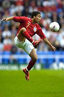 Photo: Richard Lane.<br />England 'B' v Belarus. International Friendly. 25/05/2006.<br />England's Aaron Lennon.