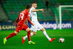Jasmin Kurtic of Slovenia during football match between National teams of Slovenia and North Macedonia in Group G of UEFA Euro 2020 qualifications, on March 24, 2019 in SRC Stozice, Ljubljana, Slovenia. Photo by Vid Ponikvar / Sportida
