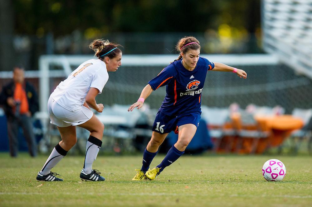 Oct 23, 2013; Morrow, GA, USA; Clayton State women's soccer player Brooke Bortles against Georgia Southwestern at CSU. CSU won 4-0. Photo by Kevin Liles/kevindliles.com