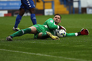 Bury Goalkeeper Ben Williams holds on to the ball. EFL Skybet football league one match, Bury v Port Vale at Gigg Lane in Bury ,Lancs on Saturday 3rd September 2016.<br /> pic by Chris Stading, Andrew Orchard sports photography.