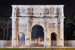 Triumphal arch, Arch Of Constantine, Rome, Italy