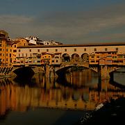 The Ponte Vecchio in Firenze, Toscana. Italy.