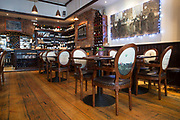 Interior of Olesyas wine bar on 04th April 2017 in Dublin, Republic of Ireland. Dublin is the largest city and capital of the Republic of Ireland.