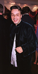 Fashion designer TOMASZ STARZEWSKI, at a party in London on 17th May 1999.MSC 28