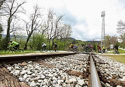 Riders in Fala during 4th Stage from Prevalje to Dobrovnik, 190 km at Day 4 of DOS 2021 Charity event - Dobrodelno okrog Slovenije, on April 30, 2021, in Slovenia. Photo by Vid Ponikvar / Sportida