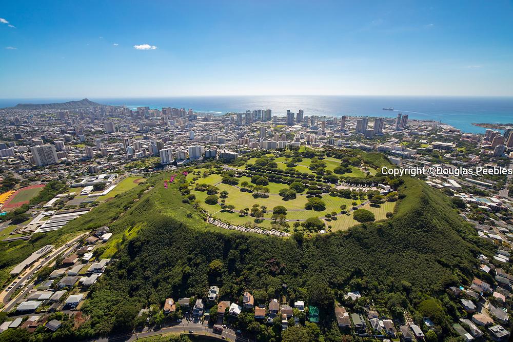 Punchbowl, National Memorial Cemetary of the Pacific. Honolulu, Oahu, Hawaii