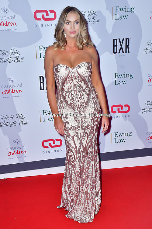Amy Childs arrive at Float Like A Butterfly Ball for Caudwell Children Charity at Grosvenor House Hotel on 16 November 2019, London, UK.