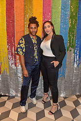 Cobbie Yates and Jada Sezer at a cocktail supper hosted by BOTTLETOP co-founders Cameron Saul & Oliver Wayman, along with Arizona Muse, Richard Curtis & Livia Firth to launch the #TOGETHERBAND campaign at The Quadrant Arcade on April 24, 2019 in London, England.<br /> <br /> ***For fees please contact us prior to publication***