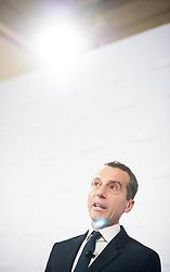 17.05.2016, Parlament, Wien, AUT, SPÖ, Pressekonferenz mit der Vorstellung des designierten Bundeskanzlers nach Sitzung des Parteipräsidiums. im Bild designierter Bundeskanzler Christian Kern // designed federal chancellor of austria Christian Kern during press conference with introduction of the designed federal chancellor after board meeting of the austrian social democratic party at austrian parliament in Vienna, Austria on 2016/05/17. EXPA Pictures © 2016, PhotoCredit: EXPA/ Michael Gruber