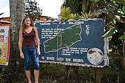 International Date Line sign,, Taveuni, Fiji