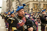 The pipe band of the Suffolk County Police Emerald Society.