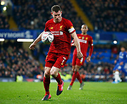 Liverpool's James Milner in action during the English FA Cup fifth round soccer match between Chelsea and Liverpool at Stanford Bridge Stadium, Wednesday, March 3, 2020, in London, United Kingdom. (ESPA-Images/Image of Sport)