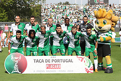 May 20, 2018 - Lisbon, Portugal - Sporting's line up team before the Portugal Cup Final football match CD Aves vs Sporting CP at the Jamor stadium in Oeiras, outskirts of Lisbon, on May 20, 2015. (Credit Image: © Pedro Fiuza/NurPhoto via ZUMA Press)