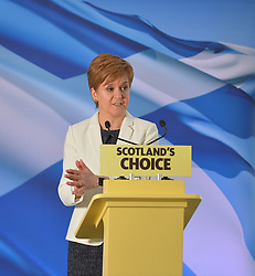 SNP leader Nicola Sturgeon faced the media and activists on Brexit Day to outline the next steps the SNP will take towards Indyref 2 and ultimately independence.<br /> <br /> © Dave Johnston / EEm