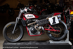 Number one plate holder Jared Mee's Indian Scout FTR750 Flat-Tracker at the Handbuilt Show. Austin, TX. USA. Friday April 20, 2018. Photography ©2018 Michael Lichter.