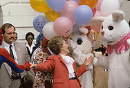 First Lady Nancy Reagan hosts the Easter Egg Roll in April 1981..Photograph by Dennis Brack BB23