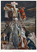 Descent from the Cross. Illustration by JJ Tissot for his 'The Life of our Saviour Jesus Christ' London c1890. Oleograph.
