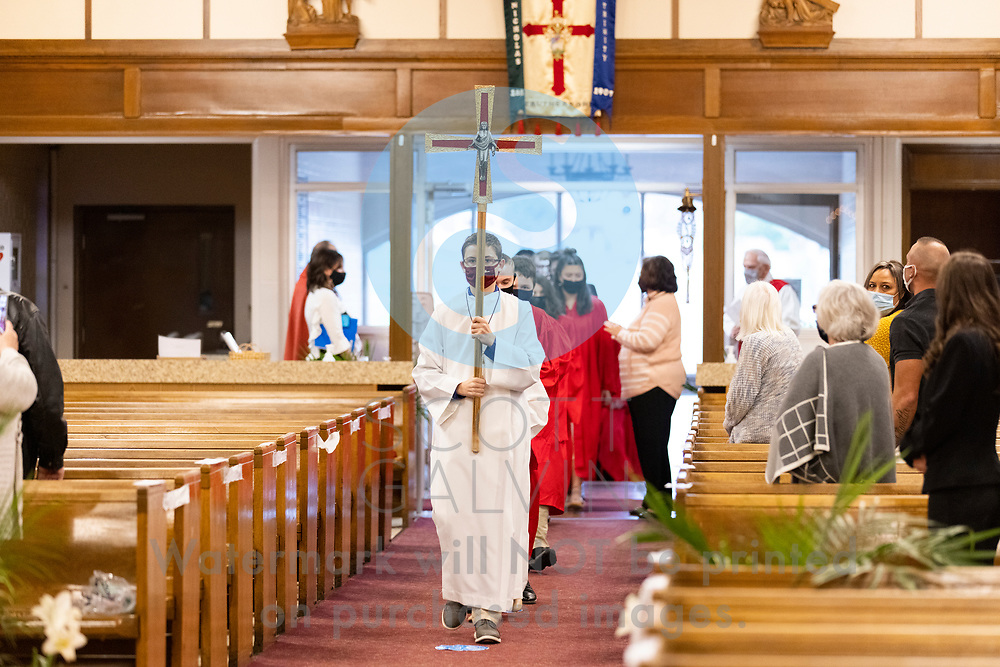 Christ Our Savior Parish Confirmation at St. Nicholas in Struthers on April 16, 2021.