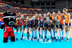 11-10-2018 JPN: World Championship Volleyball Women day 12, Nagoya<br /> Netherlands - Serbia 3-0 / Team NL