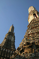 Wat Arun, Temple of the Dawn, is a Buddhist temple in the Bangkok Yai district of Bangkok, on the west bank of the Chao Phraya River. The full name of the temple is Wat Arunratchawararam Ratchaworamahavihara.