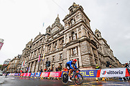 Time Trial Men 45,7 km, Filippo Ganna (Italy) during the Road Cycling European Championships Glasgow 2018, in Glasgow City Centre and metropolitan areas Great Britain, Day 7, on August 8, 2018 - photo Luca Bettini / BettiniPhoto / ProSportsImages / DPPI<br /> - restriction - Netherlands out, Belgium out, Spain out, Italy out