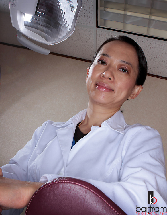 Plano dentist Amanda Phan left Vietnam as a refugee more than 30 years ago. (Photo by Kevin Bartram)