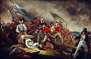 John Trumbull (1756–1843)  American painter (1756-06-06)  'The Death of General Warren at the Battle of Bunker's Hill, June 17,1775'. Dated 1786. The Battle of Bunker Hill took place on June 17, 1775, mostly on and around Breed's Hill, during the Siege of Boston early in the American Revolutionary