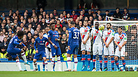 Football - 2019 / 2020 Premier League - Chelsea vs. Crystal Palace<br /> <br /> Willian (Chelsea FC) with a free kick at Stamford Bridge <br /> <br /> COLORSPORT/DANIEL BEARHAM