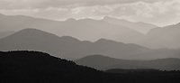 layered mountain view from atop Mt Philo in Ferrisburgh, Vermont