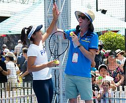 December 30, 2018 - Brisbane, AUSTRALIA - Priscilla Hon of Australia hits balls with kids at the 2019 Brisbane International WTA Premier tennis tournament (Credit Image: © AFP7 via ZUMA Wire)
