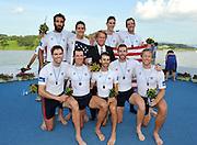 Chungju, South Korea. Men's Eights Awards Dock USA M8+ Ian SILVEIRA (b) , Ross JAMES (2) , Nareg GUREGIAN (3) , Ambrose PUTTMANN (4) , Austin HACK (5) , Stephen KASPRZYK (6) , Thomas DETHLEFS (7) , Thomas PESZEK (s) , Zachary VLAHOS ©.  2013 World Rowing Championships, Tangeum Lake, International Regatta Course.  Sunday  01/09/2013 [Mandatory Credit. Peter Spurrier/Intersport Images]