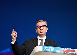 Conservative Party Conference, ICC, Birmingham, Great Britain <br /> Day 4<br /> 9th October 2012 <br /> <br /> Rt Hon Michael Gove MP <br /> Education minister <br /> <br /> <br /> <br /> <br /> Photograph by Elliott Franks<br /> <br /> United Kingdom<br /> Tel 07802 537 220 <br /> elliott@elliottfranks.com<br /> <br /> ©2012 Elliott Franks<br /> Agency space rates apply