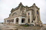 Post communist decay, abandoned building deterioration, Bucharest Romania