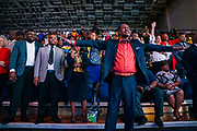 """North Carolina Agricultural and Technical State University students, alumni and guests react as they listen to master communicator T.D. Jakes discuss """"Living Your Best Life"""" at  Chancellor's Speaker Series on Thursday, April 11, 2019.<br /> <br /> (Chris English/Tigermoth Creative)"""