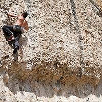 bouldering, rock climbing