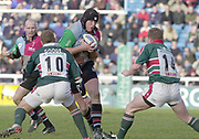 Twickenham, Surrey, UK., 19.01.2002, Quin's Captain Garrick MORGAN, going for the gap, during the, Harlequins vs Leicester Tigers, Powergen National Cup Rugby match, played at the, Stoop Memorial Ground, [Mandatory Credit: Peter Spurrier/Intersport Images],