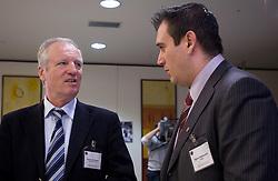 Branko Florjanic and Dejan Stefanovic at Management conference of Slovenian Football Federation, on March 10, 2009, in Hotel Kokra, Brdo pri Kranju, Slovenia. (Photo by Vid Ponikvar / Sportida)