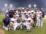 CHICAGO - JULY 26:  The Chicago White Sox celebrate with the Crosstwon Cup after the game against the Chicago Cubs on July 26, 2016 at U.S. Cellular Field in Chicago, Illinois.  The White Sox defeated the Cubs 3-0.  (Photo by Ron Vesely/MLB Photos via Getty Images)  ***