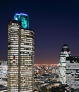 london city, tower 42 and gherkin night