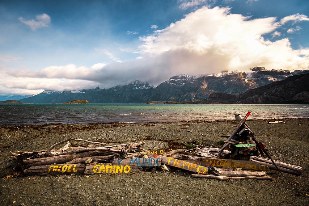 End of the road at Caleta Maria, Chilen Fin Del Mundo