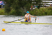 Race: 124  1x (Band 2)  Final<br /> <br /> Peterborough Summer Regatta 2018 - Sunday<br /> <br /> To purchase this photo, or to see pricing information for Prints and Downloads, click the blue 'Add to Cart' button at the top-right of the page.