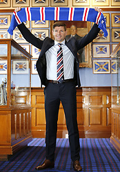 Rangers new manager Steven Gerrard during a press conference at Ibrox Stadium, Glasgow.