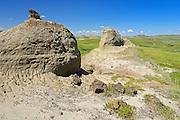 Buttes in Killdeer Badlands.   East Block.<br /> Grasslands National Park<br /> Saskatchewan<br /> Canada