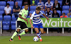 John Swift of Reading goes past Joshua King of Bournemouth - Mandatory by-line: Robbie Stephenson/JMP - 29/07/2016 - FOOTBALL - Madejski Stadium - Reading, England - Reading v AFC Bournemouth - Pre-season friendly