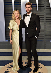 2018 Vanity Fair Oscar Party. Wallis Annenberg Center for the Performing Arts, Beverly Hills, CA. Pictured: Eve Hewson. EVENT March 4, 2018. 04 Mar 2018 Pictured: Miley Cyrus,Liam Hemsworth. Photo credit: AXELLE/BAUER-GRIFFIN/MEGA TheMegaAgency.com +1 888 505 6342