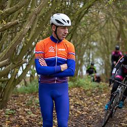 OLDENZAAL (NED) wielrennen<br />Maarten Nijland regiotrainer Oost bij een regiocross training