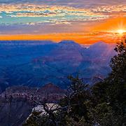 HDR Sunrise at Yaki Point, Grand Canyon.
