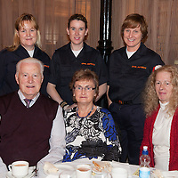 Members of Civil Defence Ann O'Brien, Eucharia Coonan, Ursula Horkan with Paul & Phil Hogan, and Geraldine O'Connor at the Ennis Garda Christmas Party for the Elderly at the Temple Gate Hotel on Thursday