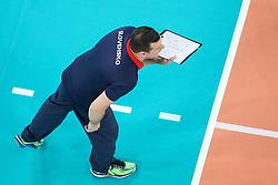 Marek Rojko, head coach of Slovakia during volleyball match between Slovenia and Slovakia in CEV European League Women on June 22, 2016 in Stozice, Ljubljana, Slovenia. Photo by Morgan Kristan / Sportida